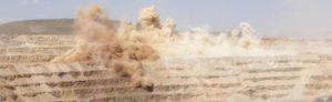 blasting at a disseminated copper mine North America